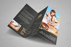 Buy Luxury Spa Brochure Tri-fold by on GraphicRiver. Spa Brochure, Creative Brochure, Vip Card, Spa Design, Luxury Spa, Brochure Template, Cool Stuff, Tri Fold, Brochures