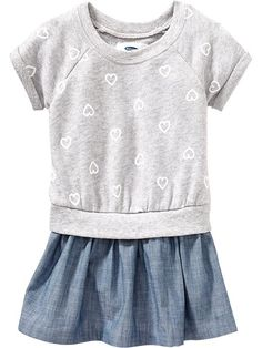 Heart-Print Sweatshirt Dresses for Baby Product Image