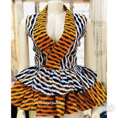 African Wear Dresses, African Fashion Ankara, Latest African Fashion Dresses, African Print Fashion, Africa Fashion, African Attire, African Outfits, Ankara Peplum Tops, African Print Dress Designs