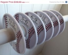 SALE 6 Baby Closet Dividers Baseball Sports Theme Nursery Clothes Organizers Baby Shower Gift