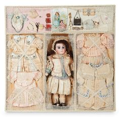 """The Lifelong Collection of Berta Leon Hackney: 362 Sonneberg Bisque Doll by William Dehler in Well-Fitted Presentation Box for """"Gabrielle"""""""