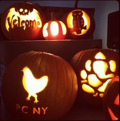 Carved pumpkins PC style!