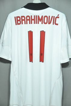 AC Milan Ibrahimovic Away Sleeves Jersey Shirt Replica 2010 2011 Italy Series A Euro Champion League – Nice Day Sports