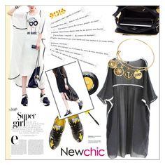 """newchic 3.1"" by meyli-meyli ❤ liked on Polyvore featuring Prada, Lancôme, Katie, Maybelline and vintage"