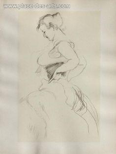 Dessins : Le corset, Phototypie, du peintre, (After), TOULOUSE-LAUTREC, Signée dans la planche