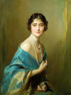 Queen Elizabeth The Queen Mother, 1925 by Philip Alexius de László, Hungarian portrait painter, (1869-1937)