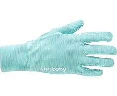 Saucony Swift Glove-Match your running gloves to your running outfit! Lightweight and breathable-heathered look! Mint Green!