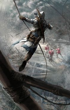 Death From Above - Pictures & Characters Art - Assassin's Creed III. #fantasy #illustration
