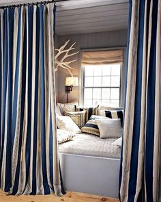 The Curtained Nook | 44 Cozy Nooks You'll Want To Crawl Into Immediately
