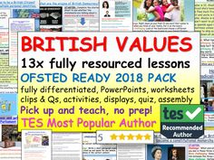 BRITISH VALUES: British Values Bundle School Resources, Teaching Resources, Citizenship Lessons, British Values, School Displays, Personal Identity, Mindfulness Activities, Positive Behavior, Character Education
