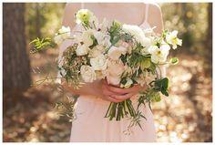 Beautiful bouquet by Fern Studio, blush bridesmaid dress from Bella Bridesmaids, image by Katherine Dalton.