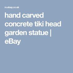 hand carved concrete tiki head garden statue   | eBay