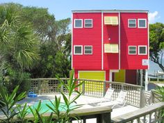 Coastal Kaleidoscope a 4 Bedroom Soundfront Rental House in Emerald Isle, part of the Crystal Coast of North Carolina. Includes Private Pool, Hot Tub, Hi-Speed Internet