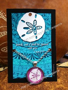 """Beautiful """"Ask and Ye Shall Receive"""" LDS Pendant Necklaces Polynesian Style Sand Dollar - etsy.com/shop/templesquares"""