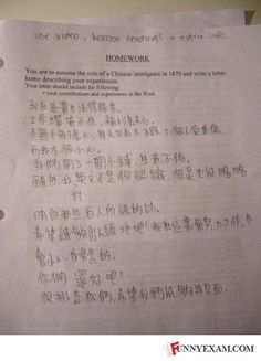 well to be completely honest.. they were asked to put themselves in the role of a chinese immigrant :-/