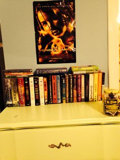 My book collection :D Comment below the books you've read out of my collection and take a picture of your book collection and send it to me @HungerGamesGal