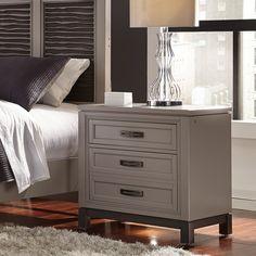 furniture of america kerilan transitional 3 drawer grey nightstand