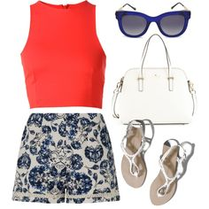 Patriotic by maria-maldonado on Polyvore featuring T By Alexander Wang, Missguided, Abercrombie & Fitch, Kate Spade and Thierry Lasry