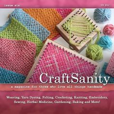 CraftSanity Magazine Issue 6 Print Edition by CraftSanity on Etsy, $12.00