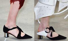 Schouler scarpe estive tacco tondo