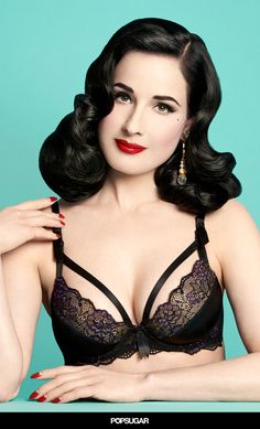 Dita Von Teese Launches a Sexy Maternity Bra Collection