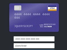 CcformatJs Is A Very Small Jquery Plugin For Build A Credit Card