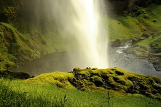 waterfall kvernufoss in iceland