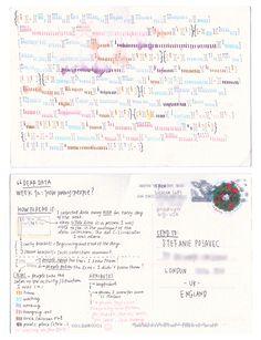 Dear-Data (www.dear-data.com) Week 12 - A week of people! Postcard by Giorgia