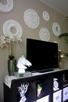 Another pic of Ceiling medallion collection - instant art! LOVE IT!