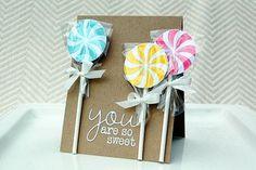Lollipop card...wow!
