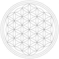 Blume des Lebens - Leinwand Malvorlage - Leinwandbild auf Keilrahmen zum selber ausmalen!