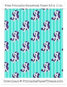 Turquoise Striped Large  Rarity Pattern Paper