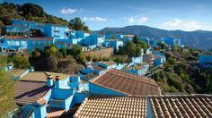 Juzcar, Spain, Andalusia, blue, city, Smurfs (Credit: Mark Fischer)