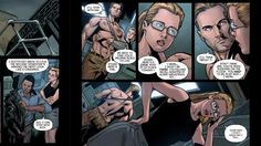 Panel from Arrow Season 2.5 digital comic #2 with Oliver Queen and Felicity Smoak. published September 15, 2014. #Olicity