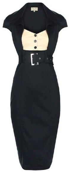 cute lindy bop 'Wynona' chic vintage 50's secretary style black pencil wiggle dress.
