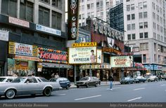 Broadway between 48th and 49th, 1984. Fascination was the best arcade in Times Square. I can't vouch for the quality of the porn theaters.
