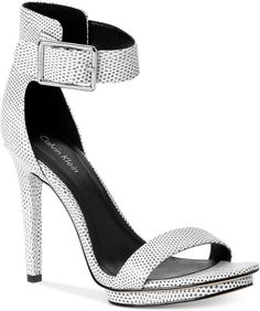 3927465e73d Calvin Klein  Vivian  High Heel Black And White Shoes