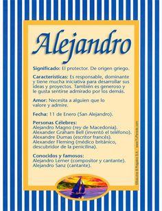 Nombres para bebé, Alejandro