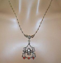 Skull Spider Unisex Goth Chain by MyJannyMarie on Etsy, $16.95