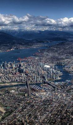 Vancouver Skyline, Vancouver Bc Canada, Rainy City, Big Big, Most Beautiful Cities, Aerial View, Urban Design, Quebec, Homeland