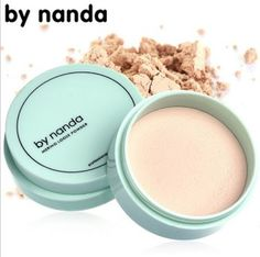 By nanda Translucent Pressed Powder with Puff Smooth Face Makeup Foundation Waterproof Loose Powder Skin Powder 3 Colors