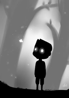 Limbo game I have this game! 2d Game Art, Video Game Art, Limbo Game, Limbo Video Game, Illustrations, Illustration Art, Fanart, Indie Games, Stop Motion
