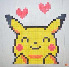 Best Indoor Garden Ideas for 2020 - Modern Graph Paper Drawings, Graph Paper Art, Cool Pixel Art, Anime Pixel Art, Pixel Pattern, Pattern Art, Art Harry Potter, Art Kawaii, Pokemon Cross Stitch