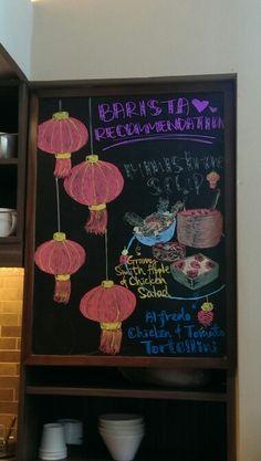 Barista recommendations - Mushroom soup Mushroom Soup, Barista, Starbucks, Chalkboard, Stuffed Mushrooms, Asia, Chicken, Drawings, Frame