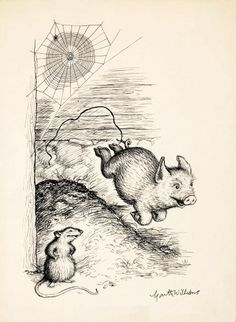 "Garth Williams illustrated E.B. White's exquisite ""Charlotte's Web."" one of the all time best illustrators!"