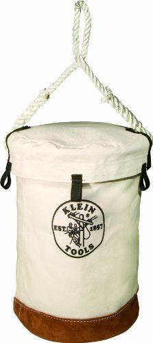Klein Tools 5104VT Velcro Top Leather Bottom Bucket
