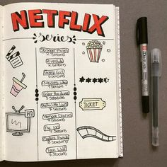 "889 Likes, 14 Comments - ᗷᑌᒪᒪᕮTᒍOᑌᖇᑎᗩᒪ IᗪᕮᗩS ♡ (@bulletjournal.ideas__) on Instagram: ""Here is a super cute netflix serie tracker!☺❤ - - #bulletjournallove #bulletjournalweekly…"""