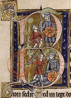 Bib. Ste. Genevieve, Psalter of Marguerite de Bourgogne (1225-1250), France. Bibliothèque Sainte-Geneviève.