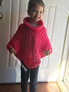 Cowl Poncho, Toddler Poncho, Crochet Woman's Poncho, Mom and Me Poncho, Crochet Spring Poncho by WoldringsKnits on Etsy