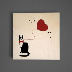 Fancy Cat Wall Art, $49.50, now featured on Fab.